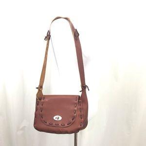 Vintage 70s  Boho Leather Saddle Bag Purse
